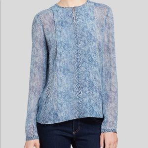 💎30% OFF💎 Tory Burch Snake Print Silk Blouse